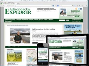 Responsive Web Site - Adirondack Explorer
