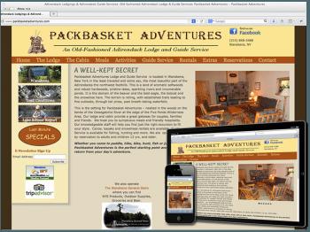 Pack Basket Adventures Adirondack Responsice Web Design