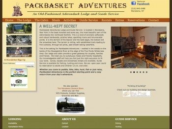 Packbasket Adventures Adirondack Lodging
